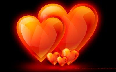Картинки с огненными сердечками (42 картинки)