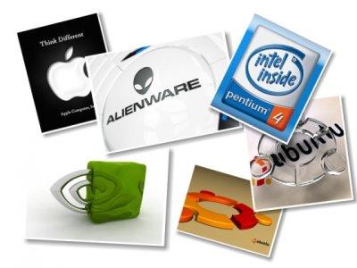 Картинки с компьютерными лого (27 картинок)